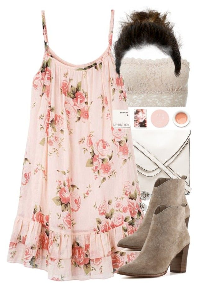 """Allison Inspired Summer Date Outfit"" by veterization ❤ liked on Polyvore featuring Hanky Panky, Boyy, Steve Madden, Marc by Marc Jacobs and Korres"
