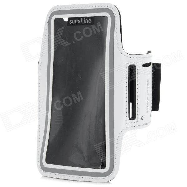 Protective Neoprene + PVC Sport Armband for Sony Xperia Z3 / L55T - White