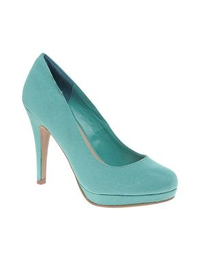 Image 1 of New Look Regal Blue Platform Court Shoes