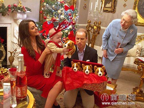 英国王室圣诞凯特王妃威廉王子伊丽莎白女王