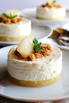 """cheesecake all'ananas monoporzione """"sottosopra"""""""