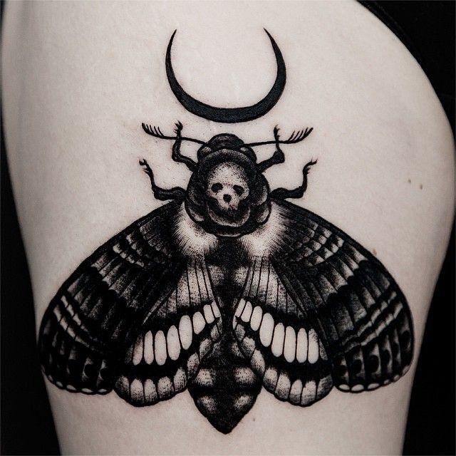 Moth tattoo by Ilja Hummel