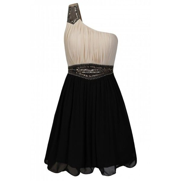 Influence black lace strapless dress