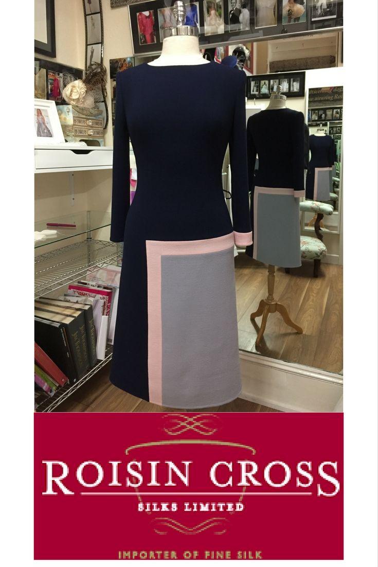 Semi Tailored Wool Crepe Day Dress