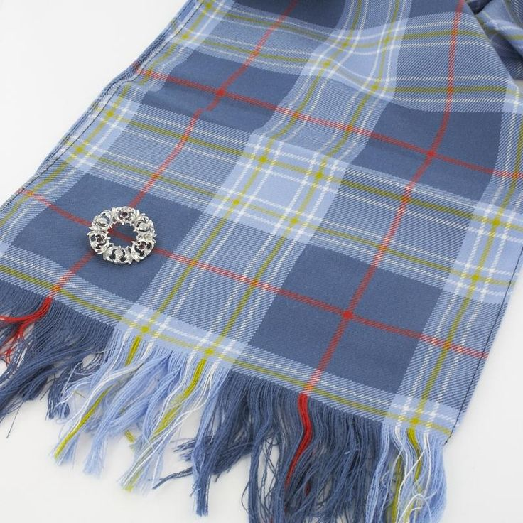 Traditional tartan sash in the Musselburgh tartan - makes a great super long scarf too!