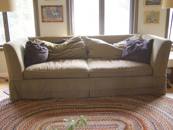 Easy DIY Save for a Tired Old Sofa :: Hometalk