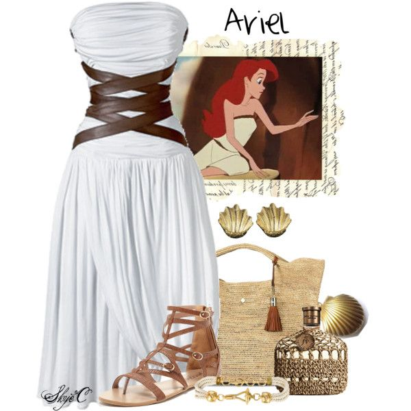 Ariel - Disney's The Little Mermaid by rubytyra on Polyvore featuring Disney, Bucco, Heidi Klein, Buccellati, Gianfranco Ferré, John Varvatos, CÉLINE, disney, thelittlemermaid and ariel