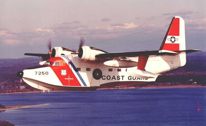Grumman - HU-16E Albatross (#7250) the Last Coast Guard Albatross, (#7250), made its Final Landing on 10 March 1983, at Coast Guard Air Station Cape Cod. The Last True Amphibious Seaplane Flown by the Coast Guard was then retired from Service