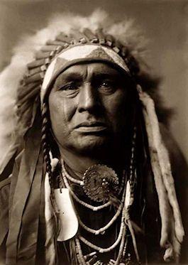 foto van een indiaanse krijger