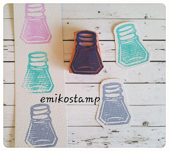 SALE Ink rubber stamp setink bottle stampsnail polish