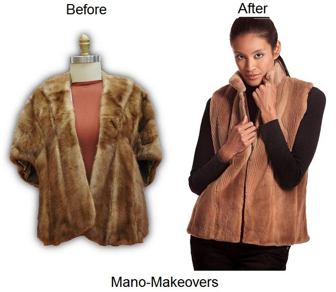 Fur Restyle From Old Mink Stole To Reversible Sheared Mink