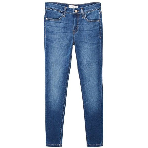 Skinny Elektra Jeans (3.100 RUB) ❤ liked on Polyvore featuring jeans, blue jeans and mango jeans