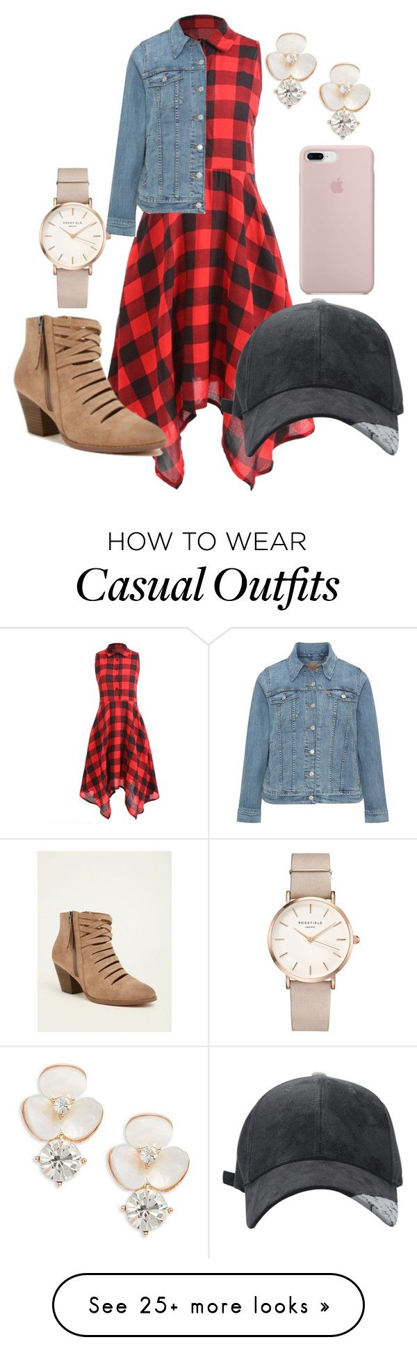 """""""Casual Times"""" by lmorin-1 on Polyvore featuring Levi's, Torrid, ROSEFIELD and Kate Spade"""