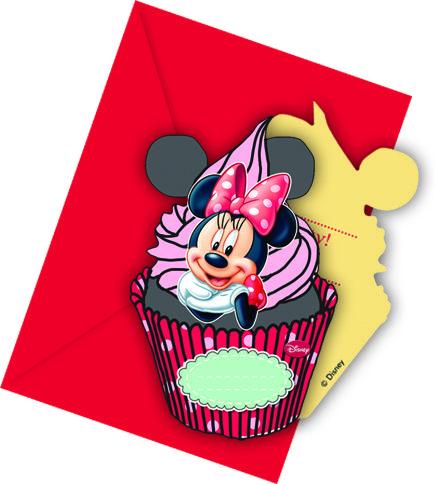 6 inviti cupcake Minnie con buste su VegaooParty, negozio di articoli per feste. Scopri il maggior catalogo di addobbi e decorazioni per feste del web,  sempre al miglior prezzo!