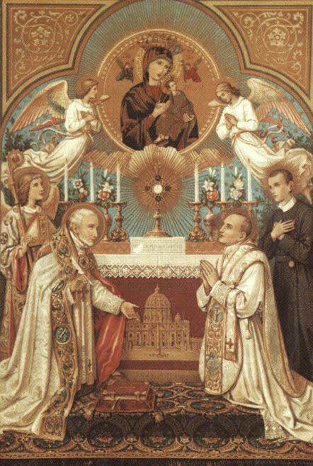 """Adoration of the the Blessed Sacrament...    """"I understand that, each time we contemplate with desire and devotion the Host in which is hidden Christ's Eucharistic Body, we increase our merits in heaven and secure special joys to be ours later in the beatific vision of God."""" ~ St. Gertrude"""