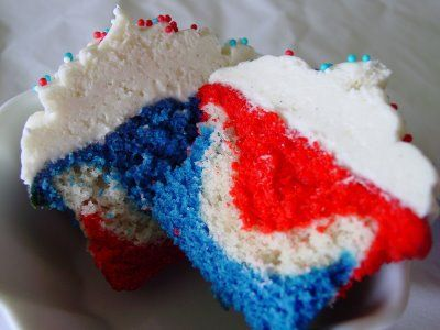 4th of July in a cupcake.