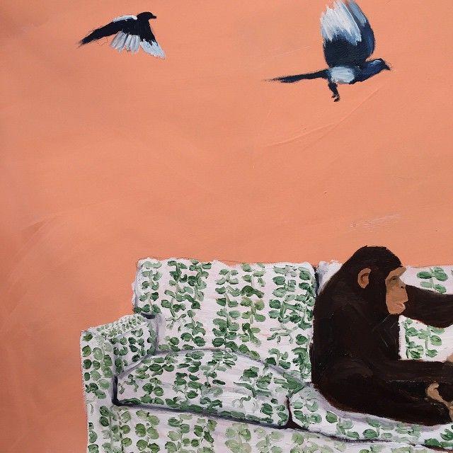 #oilpainting #art #konst #oljemålning #svenskttenn #bybobo#kunst #målning #apa