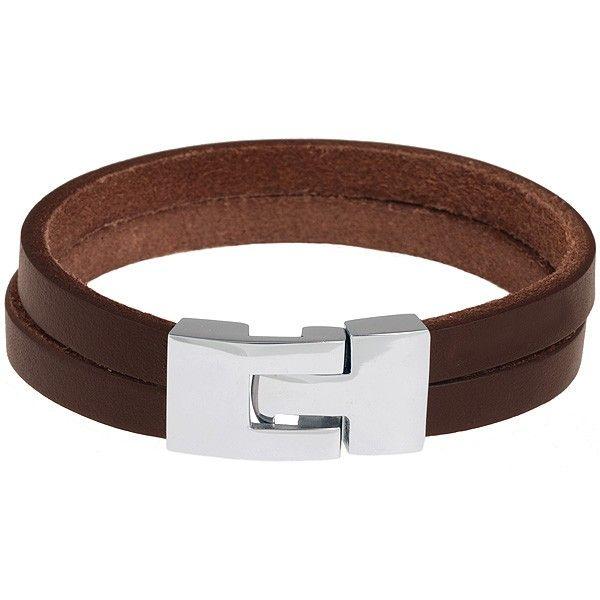 Leren armband uitgevoerd met edelstaal sluiting. Hieronder selecteert u de juiste lengte maat.