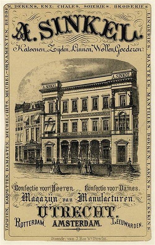 1850. 'De Winkel van Sinkel'. Met de oudste en grootse magazijnen (warenhuizen) van Nederland