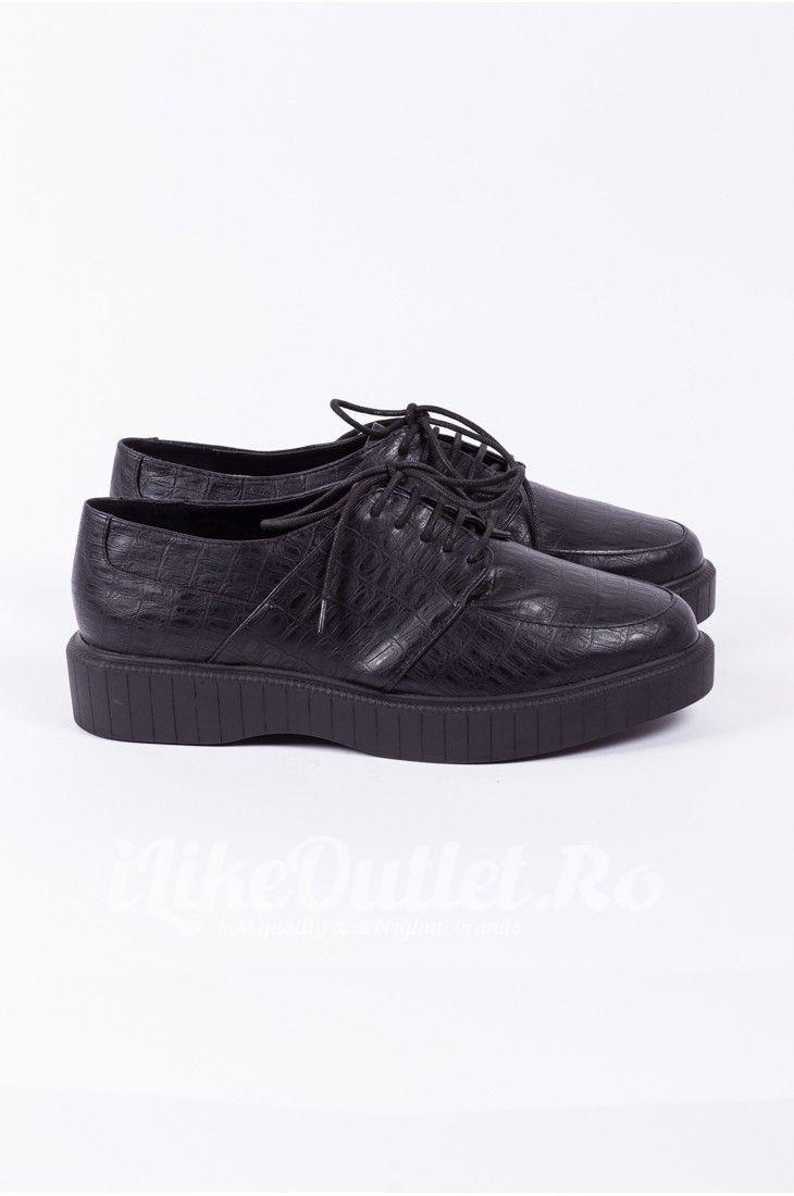 Pantofi negri cu talpa joasa ASOS