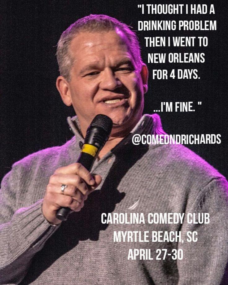 See you in Myrtle Beach at Carolina Comedy Club  April 27-30. http://ift.tt/19HF7Nz #myrtlebeach #comedy #derekrichards #carolinacomedyclub #nola #neworleans #frenchquarterfest #frenchquarter by comedndrichards