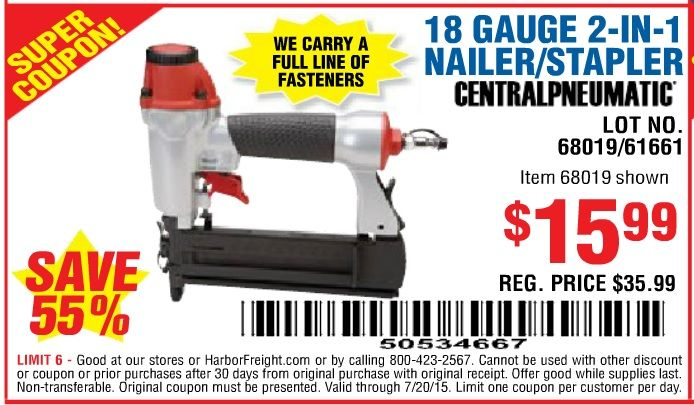 Image Result For Harbor Freight Finish Nailer Coupon Finish