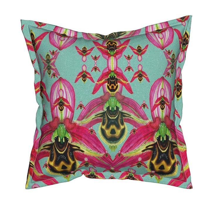 Serama Throw Pillow featuring O.Cornutula by joancaronil | Roostery Home Decor