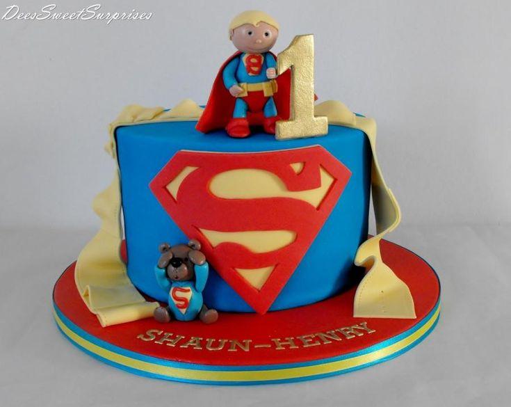 Baby Superman birthday cake