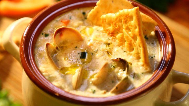 Суп Клэм Чаудер из морепродуктов - рецепт пошаговый с фото