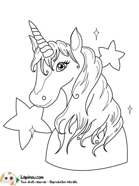 Coloriage De Licorne Deja Colorier.Coloriage Licorne A Colorier Dessin A Imprimer Dessins Unicorn