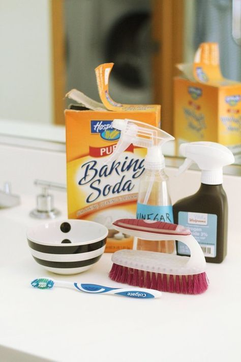 Want to clean your bathroom without all the harsh chemicals?  Here's a how-to guide to do keep your grout clean using ingredients you can find in your kitchen.