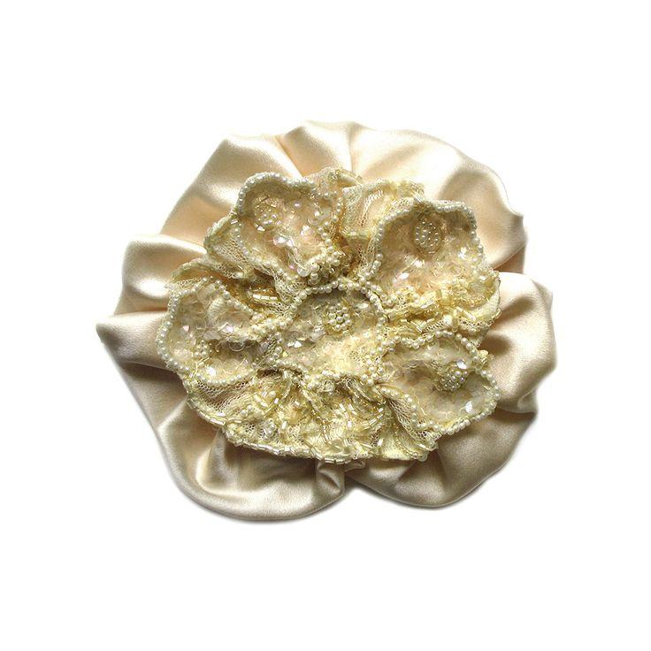 Dorothea Flower Brooch by Amalia Karagergou