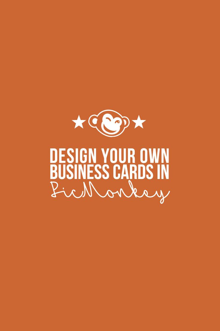 Design Your Own Business Cards In Picmonkey Business