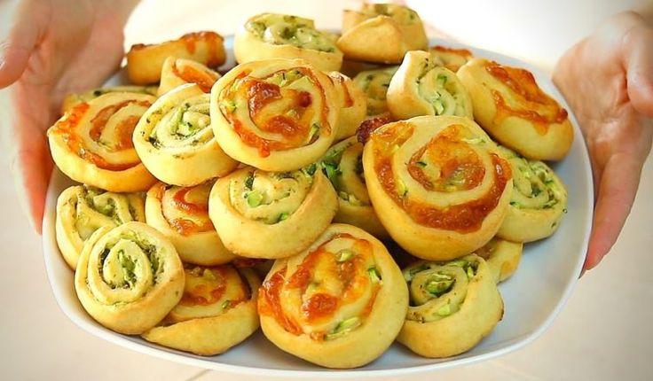 GIRELLE SALATE ALLE ZUCCHINE Ricetta Facile – Homemade Zucchini Rolls Easy Recipe
