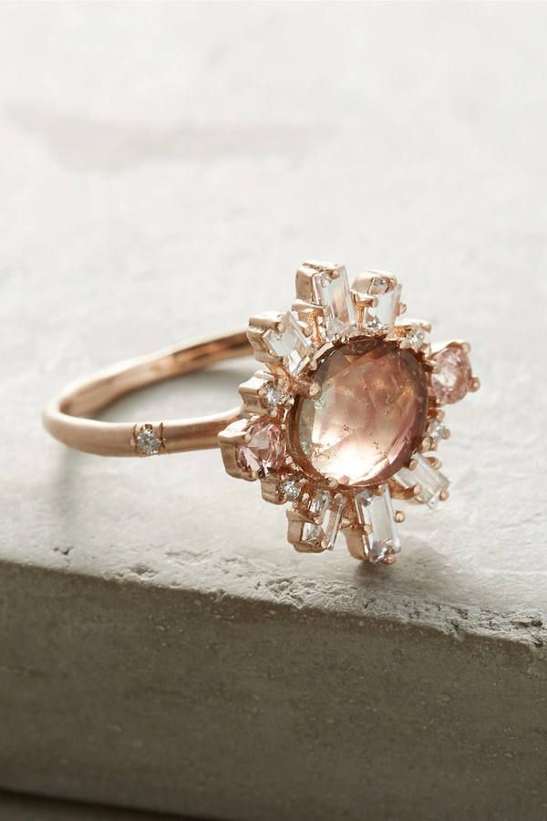sirciam fireburst tourmaline ring engagement ring gypsy soul boho bohemian bride - Bohemian Wedding Rings