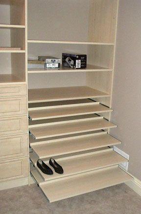Sliding Shoe Shelves