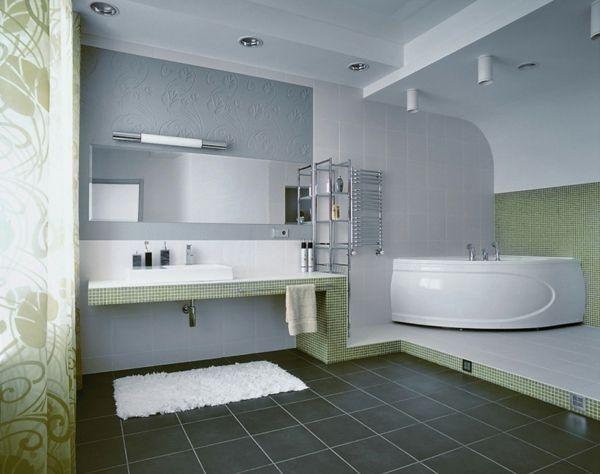 les 25 meilleures idées de la catégorie baignoire d'angle sur ... - Salle De Bain Avec Baignoire D Angle