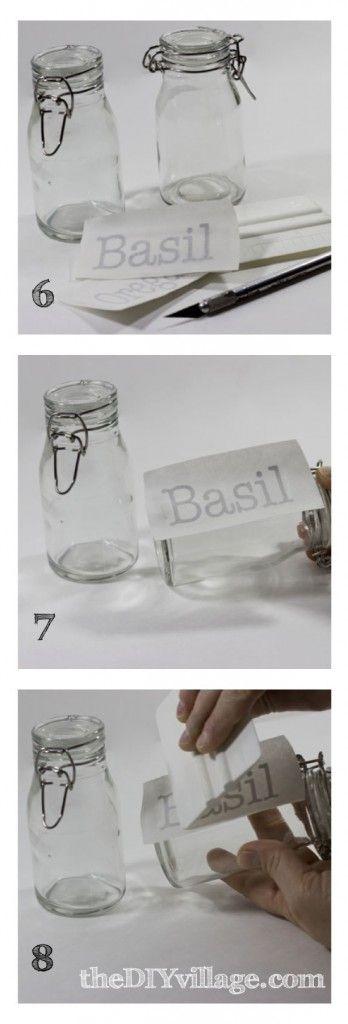 Stickers speciaal geschikt voor op glas. Ook een idee voor mijn weckpotten voor de tuin-voeding