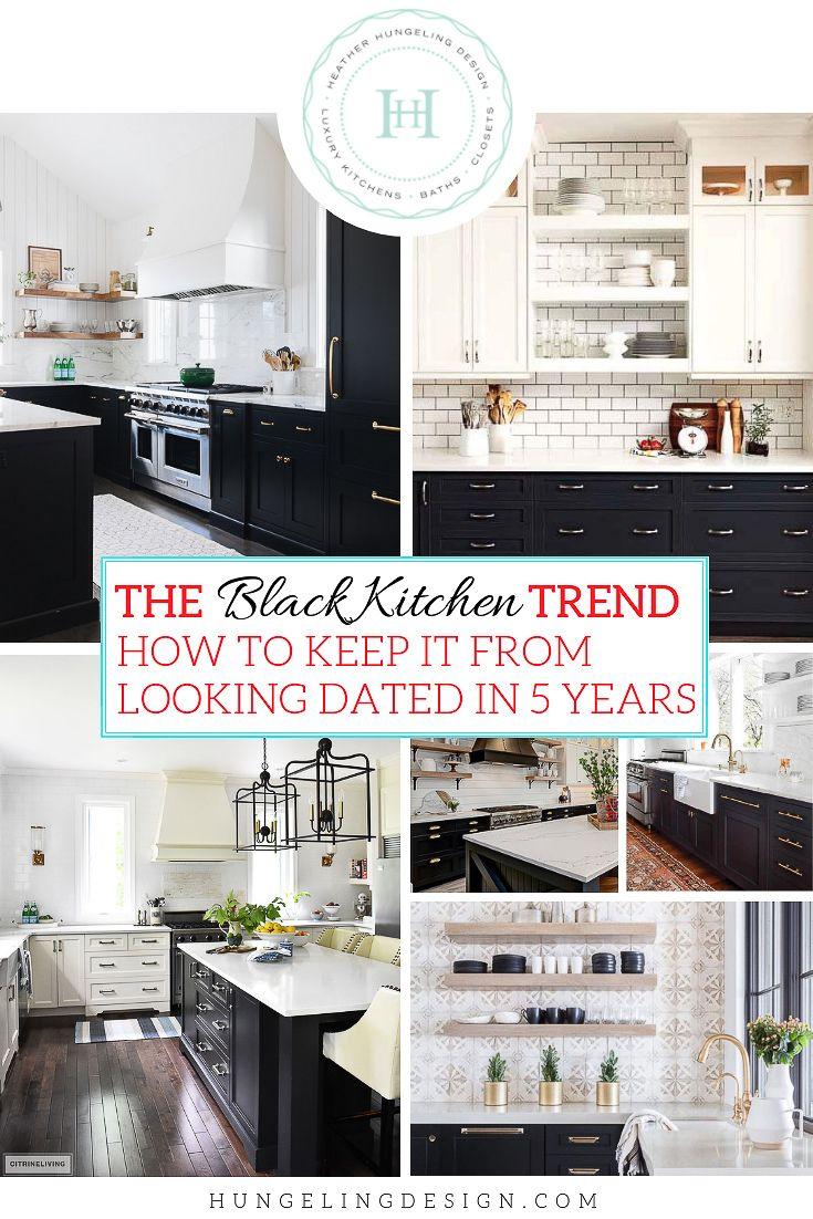 The Black Kitchen Cabinet Trend Kitchen Cabinet Trends Black