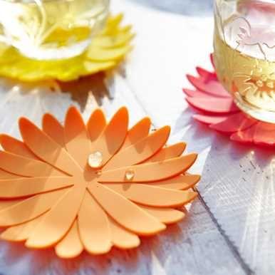 Glassunderlag – blomst