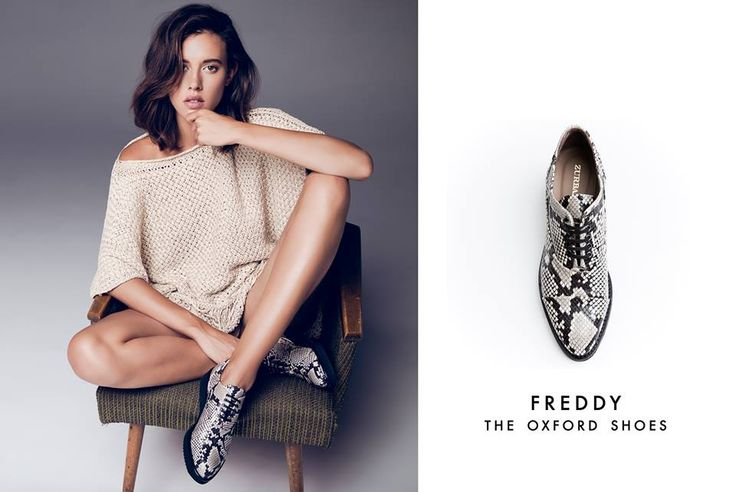 Be bold in snake print this autumn! Introducing Zurbano FREDDY oxfords.  Shop now online at http://bit.ly/FREDDYshoes
