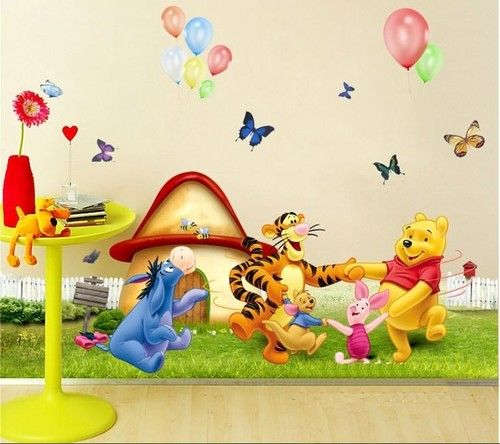 Winnie The Pooh Wall Decal Removable Stickers Nursery Kids Room Decor 50cm