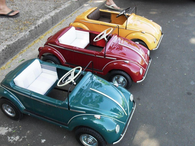 Slug Bug ~ Beetle Bug ~ Love Bug ~ VW  Pedal Cars