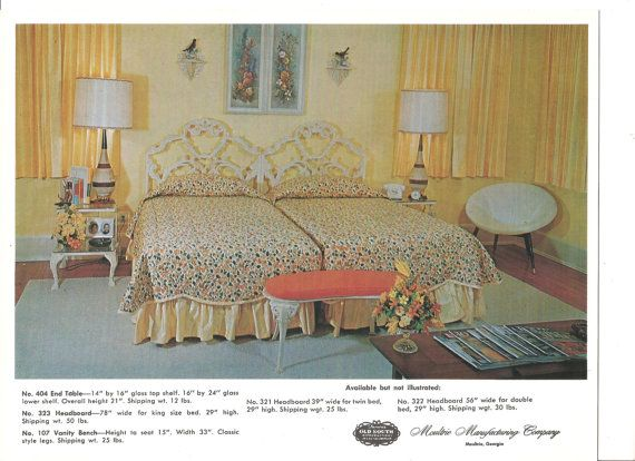 24 best 1960s bedroom images on pinterest - Bassett bedroom furniture 1970 s ...