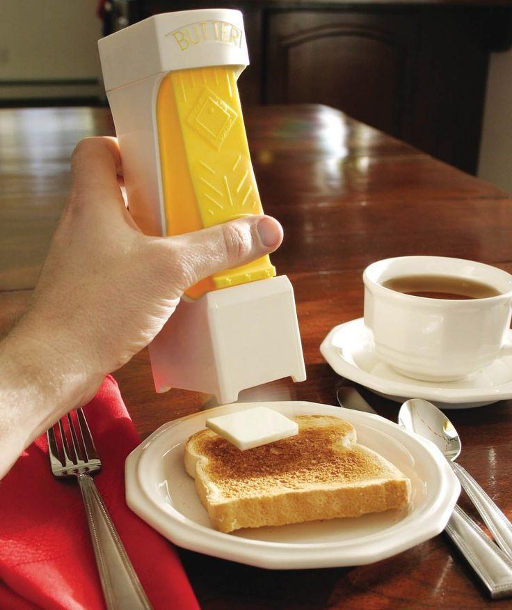 LA tranche de beurre parfaite, un (1) clic - (découvrez 47 autres ustensiles pour la cuisines vraiment ridicules)