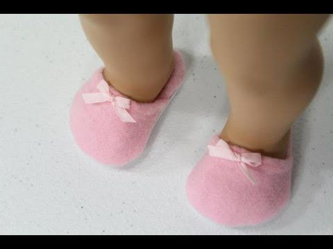How to Make Boots and Socks for 18 inch Dolls - YouTube