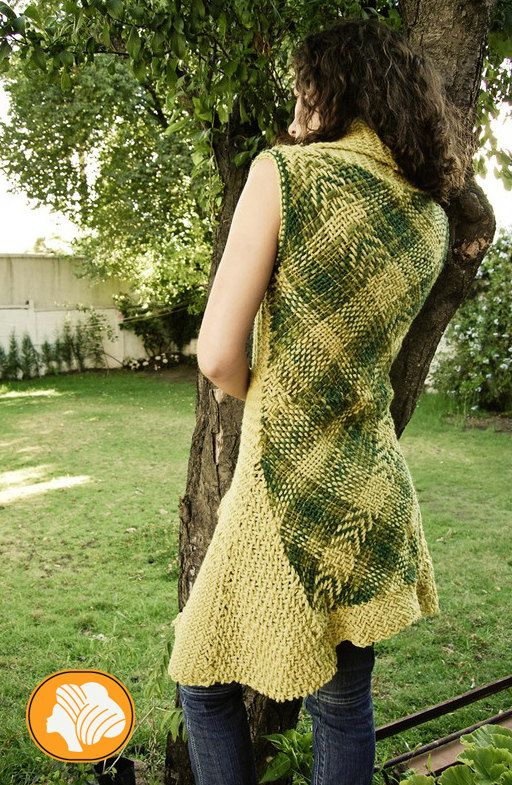 Apple green long woolen vest by Ullvuna on Etsy, $140.00