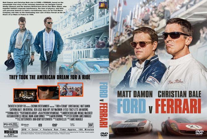 Ford V Ferrari 2019 Dvd Custom Cover Ferrari Ford Dvd Cover Design