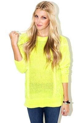 Neon sweater! <3