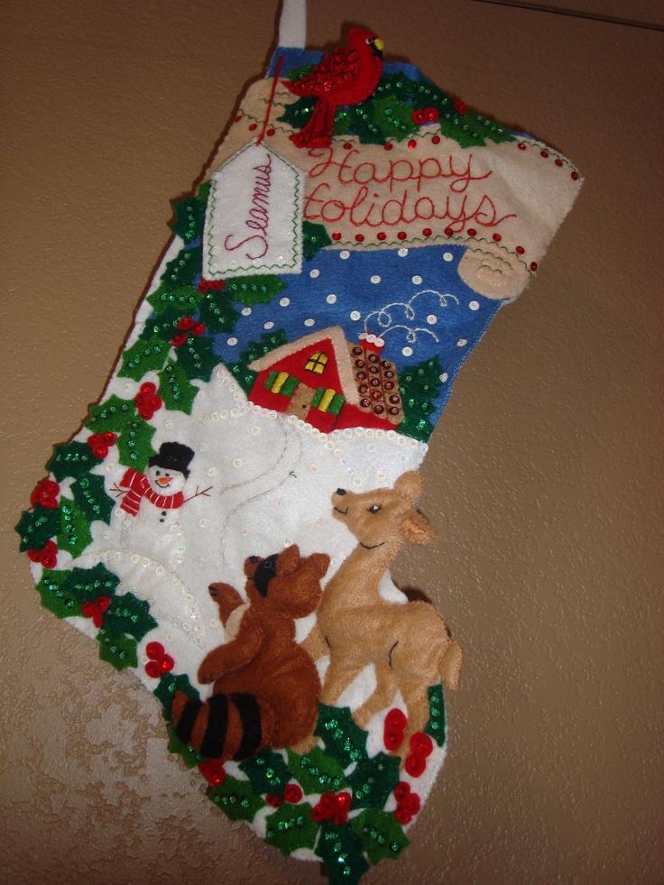 Christmas Stockings Kits Felt Applique